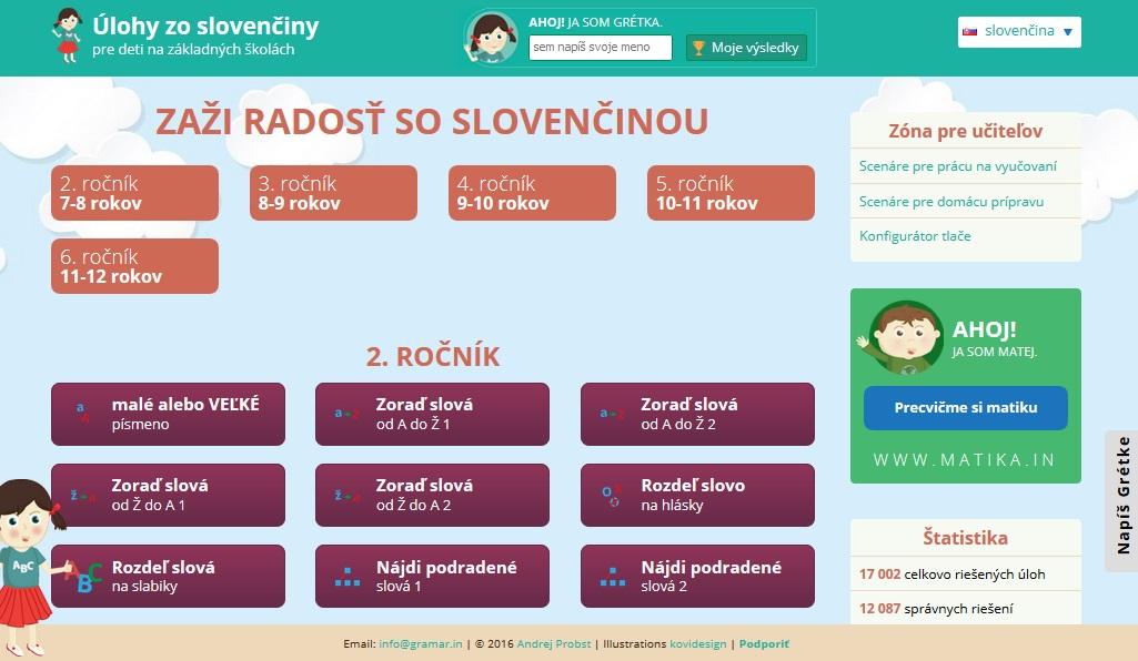 c4707baf4 Gramar.in Úlohy zo slovenského jazyka pre deti na základných školách